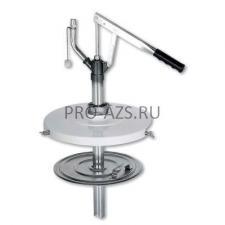 Мобильный пневматический солидолонагнетатель с насосом 60:1 для бочек 185 кг на телеге