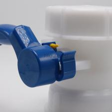 Кран баттерфляй для еврокуба диаметр входа 100 мм