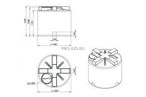 МТП Maxi 2000 л. Cube 90 , 220 V