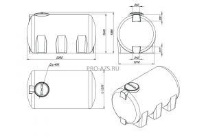 МТП Lite 3000 л. ByPass A 60, 12/24 V