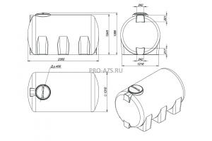 МТП Lite 3000 л. Bi-Pump, 12/24 V