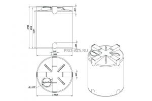 МТП Maxi 5000 л. Bi-Pump , 12/24 V