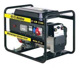 Сварочный агрегат универсальный, бензиновый - GENMAC ET GM 230RE с колёсами