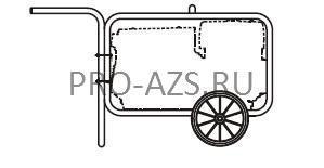 Ручная тележка для MOSA TS 200 BS/CF (арт.232120130) - MOSA CTM 200