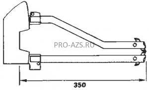Комплект плеч 350мм с электродами 12мм - TECNA7406