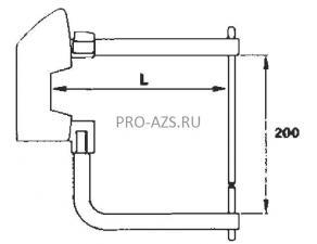 Комплект плеч 250мм с электродами 10мм TECNA 7506