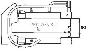 Комплект плеч 150мм с водяным охлаждением - TECNA 7512