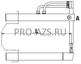 Верхнее прямое плечо 255мм (тип A) с коротким электродом для клещей - TECNA 4750