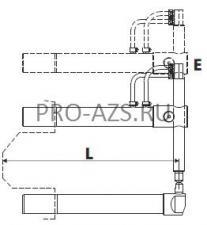 Верхнее прямое плечо 610мм (тип E) с длинным электродом для клещей 332 - TECNA 4766