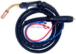 Горелка для полуавтоматической сварки 3M SB-501W с жидкостным охлаждением, длиной 3 метра и евро-разъемом