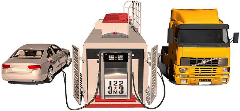 контейнерная азс, казс, мини азс, мобильная азс, автоматическая заправочная станция