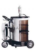 Мобильный пневматический солидолонагнетатель с насосом PM3+3 с катушкой для бочек 185 кг