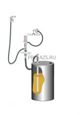 Комплект для откачки масла из бочки 205 л с насосом PM4, коэф. сжатия 5:1, монтаж на стену